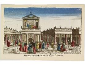 CHÉREAU, J. -  Nouvelle décoration de la foire S.Germain. [Paris].