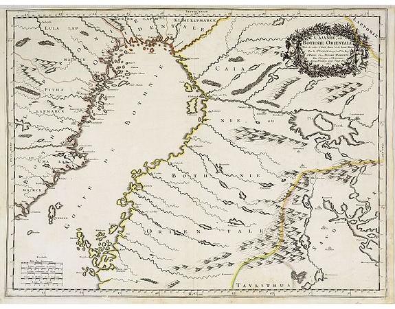 SANSON, N. -  Cajanie, ou Bothnie Orientale Tirée de celles d'Andreas Burae et de Isaac Massa. . .