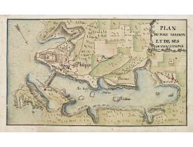 ANONYME. -  Plan du Port Mahon et de ses fortifications.