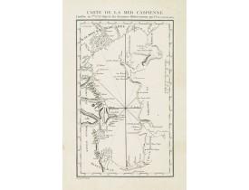 GULDENSTAEDT, J. A. -  Carte de la Mer Caspienne dressée en 7bre 1776 d'après des derniers observations par D.Guldenstaedt.