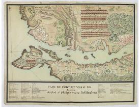 ANONYME. -  Plan du port et ville de Mahon du fort st. Philippe et ses fortifications.