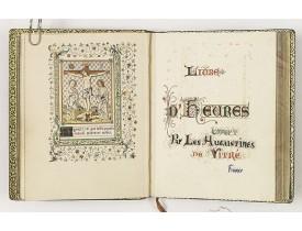 ANONYME. -  Livre d'heures offert par les augustines de Vitré France.