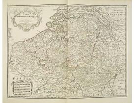 DELISLE, G . / BUACHE, Ph. / DEZAUCHE, J. -  Carte Des Pays Bas Catholiques Dressée. . .