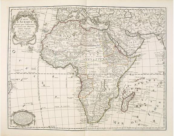 DELISLE, G . / BUACHE, Ph. / DEZAUCHE, J. -  Carte d'Afrique Dressée pour l'instruction par Guillaume DeLisle. . .