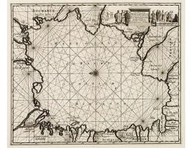 AA, P. van der -  Carte marine de la mer Caspienne avec toutes ses Bayes Rivieres et Havres, dressée sur les observations des plus habiles Navigateurs,. . .