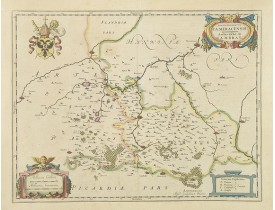 BLAEU, W. -  Archiepiscopatus Cameracensis. Archevesché de Cambray.