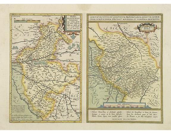 ORTELIUS, A. -  Blaisois. / Lemovicum Totius et Confinium. . .