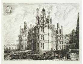 ROCHEBRUNE de, O. G. -  Façade orientale du château de Chambord, bati par Pierre Nepveu, dit Trinqueau, architecte Blesois.