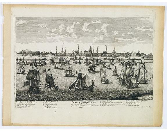 AVELINE, P. A. -  Amsterdam Ville du comté de Hollande. . .