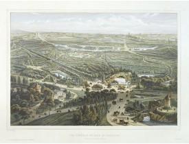 CHAPUY. -  Vue générale du bois de Boulogne prise au dessus du Moulin de Longchamps.