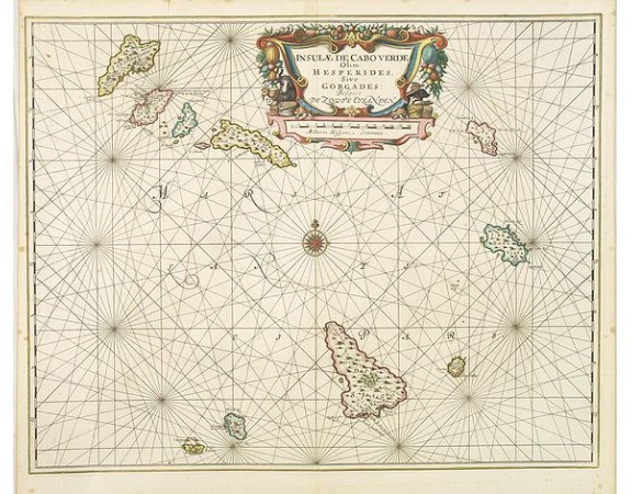 JANSSONIUS, J. -  Insulae de Cabo Verde olim Hesperides sive .. Zoute Eylanden.