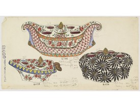 FOURMAINTRAUX, G. -  Design for Porcelain bowls.
