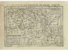 BERTIUS, P. / HONDIUS, J. -  Biturigum borbonium et Turena in Gallia Aqui.