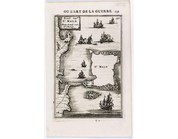 MANNESSON MALLET, A. -  Plan de St. Malo / Platte Grond van St. Malo.