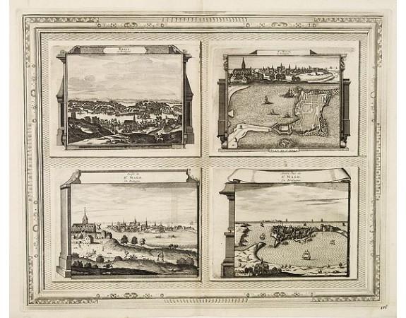 AA, P. van der. -  Brest, Profil de St. Malo, Autre vue de St. Malo en Bretagne.