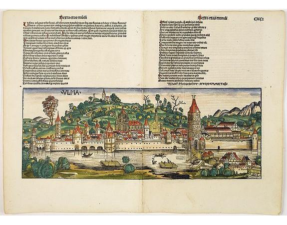 SCHEDEL, H. -  Ulma [Ulm. Folio CXCI ].