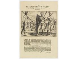 DE BRY, Th. -  VI. Repraesentatio  Bellorum, et Quomodo se ad Illa praeparent.