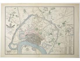 TESSARO, F. -  Plan de la ville d'Anvers et de son agrandissement général.