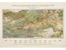ABICH, H. - Geologische Karte der Quellen-und Oberen Flussgebiete des Kur, Araxes, Euphrat und Djorokh.