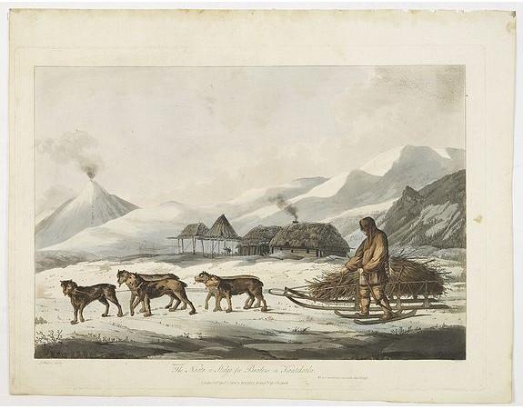 WEBBER, J. -  The narta, or Sledge for burdens in Kamtschatka.