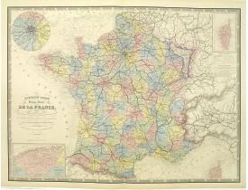LOGEROT, A. / FREMIN, A. R. -  Nouvelle Carte physique et routière de la France.