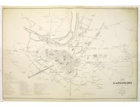 VINSON, O. -  Plan de la ville d'Angoulême.