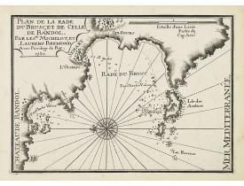 MICHELOT, H. / BREMOND, L. -  Plan de la Rade du Brusc, et de celle de Bandol.