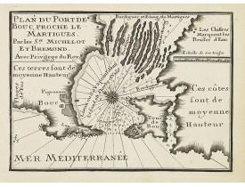 MICHELOT, H. / BREMOND, L. -  Plan du Port de Bouc, proche le Martigues.