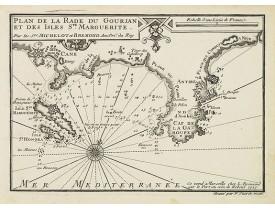 MICHELOT, H. / BREMOND, L. -  Plan de la Rade du Gourjan et des Isles Ste Marguerite.