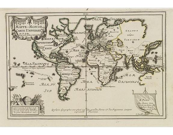 FER, N. de -  Mappe-Monde ou carte Universelle..