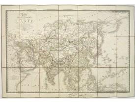 BRUÉ, A. H. -  Carte physique et politique de l'Asie.
