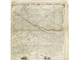 FER, N. de -  Carte particuliere d'une grande partie des estats situez sur le haut rhein et sur les rivieres qui si déchargent comme sont L'Alsace, la Souabe et la Lorraine,&c. . .