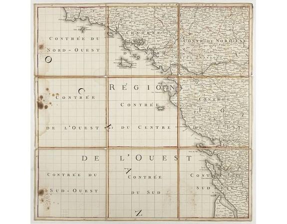 DE HASSELN, R. -  [Nouvelle topographie.... La France en ses neuf régions] Region de l'ouest.