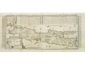 CHATELAIN, H. -  Carte de l'Ile de Java.