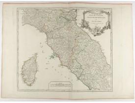 ROBERT DE VAUGONDY, G. -  Etat de l'Eglise, Grand Duché de Toscane, et isle de Corse.