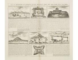 CHATELAIN, H. -  Vue et Description de Quelques-Uns des Principaux Forts des Hollandois dans les Indes .
