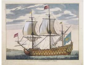MORTIER, P. -  Vaisseau du premier rang portant pavillon d'amiral.