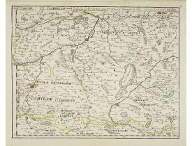 DU VAL, P. -  Le Cambresis comte duche de Cambray avec le Lardat du Château de Cambray . . .