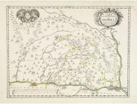 TAVERNIER, M. -  Carte de la Souveraineté de Dombes Et frontière de Bresse Augmentée et corrigée de nouveau.