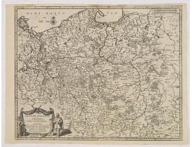 AA, P. van der. -  Grande Pologne et Prusse avec les frontières de la Misnie, Lusace, Moravie et Lithuanie.