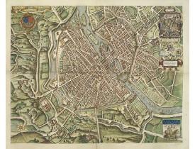 NICOLAY. -  Portrait de la Ville, Cité et Université de Paris avec les Faubourgs di celle dédié au Roy.