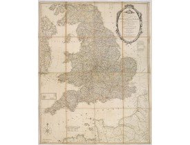 BOWLES, C. / CARVER. -  Bowles's new four-sheet map of England and Wales. . .