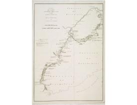 TARDIEU, J.B.P. / STAUNTON, G.L. -  Carte de la route que l'ambassade Anglaise a suivie en allent de Hang-Tchoo-Foo a Quang-Tchoo-Foo. . .