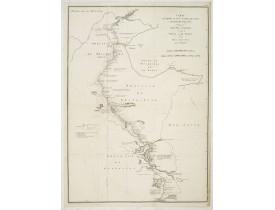 TARDIEU, J.B.P. / STAUNTON, G.L. -  Carte sur laquelle est tracé la route qu'à suivie l'ambassade Anglaise, Depuis Zhé-Hol en Tartarie jusqu'à Pekin, et de Pekin a Han-Choo-Foo, en Chine. . . Carte II.