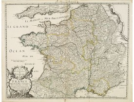 SANSON, N. / MARIETTE, P. - Carte générale du Royaume de France avecq tous les pays circomvoisins . . .