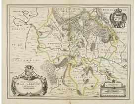 BLAEU, W. -  Les Souverainetez de SEDAN et de RAUCOURT et la Prevosté de DONCHERI.