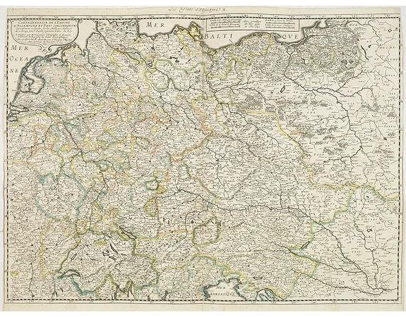 SANSON, N. / MARIETTE, P. -  Carte generale de L'Empire d'Allemagne et pays circonvoisins. . .