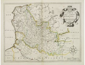 DUVAL, P. / MARIETTE, P. -  Carte des comtes d'Artois et Boulenois.