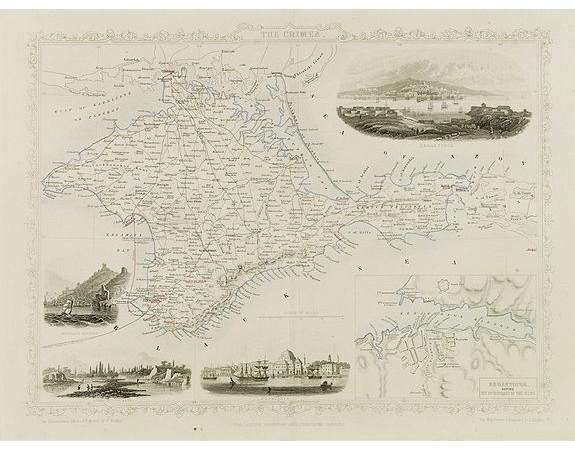 TALLIS, J. / THE LONDON PRINTING AND PUBLISHING COMPANY -  The Crimea.