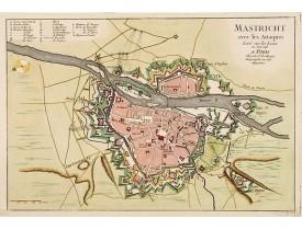 LE ROUGE, G. L. -  Mastricht avec les Attaques Leve sur les Lieux en Juin 1748. A Paris chez Le Sr. Le Rouge.